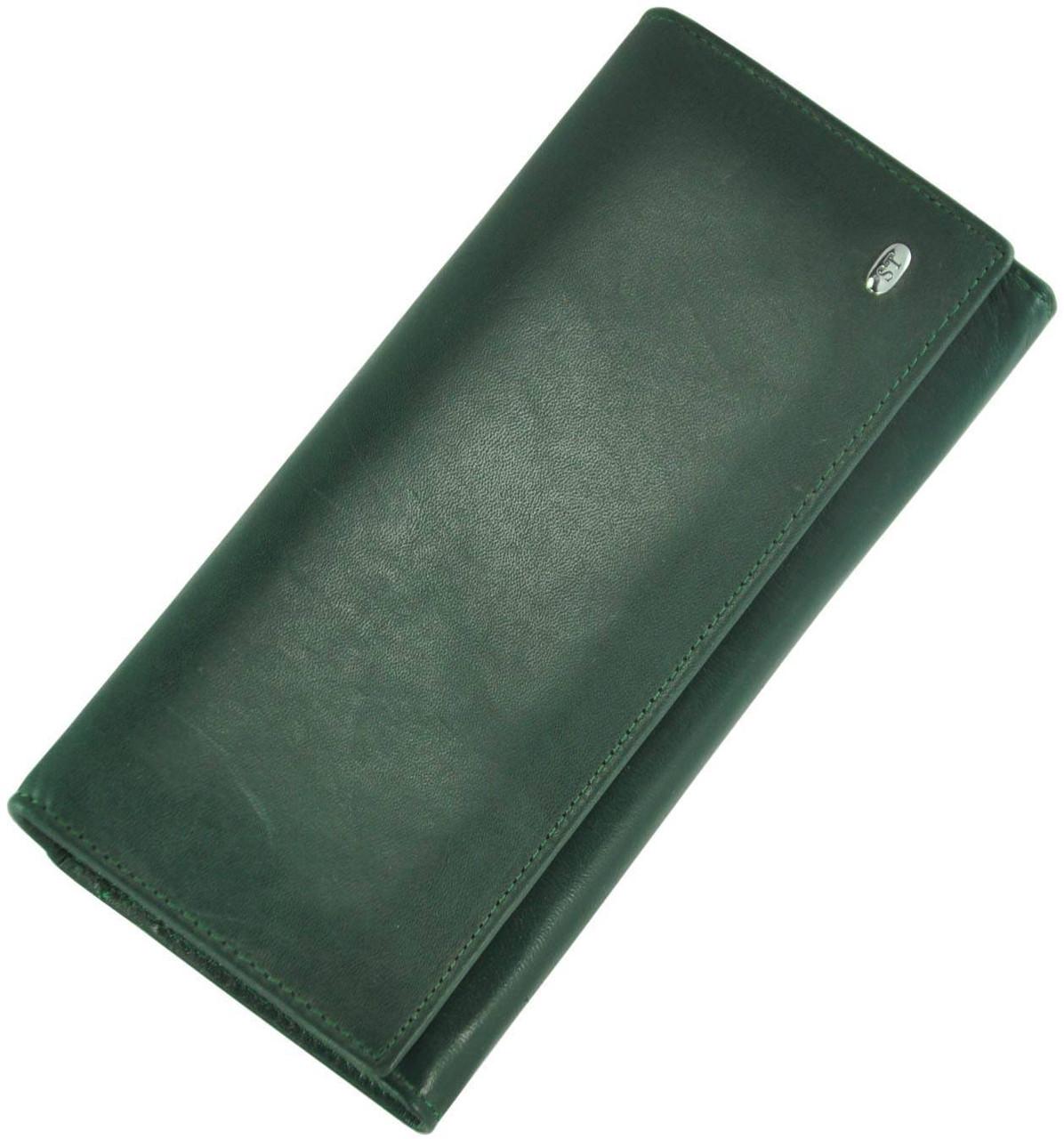 Кожаный женский кошелек ST150 GREEN