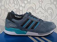 Кроссовки мужские Adidas 950 ZX, Адидас, NB серого, синего, черный, серый цвет, Оригинал, кожа