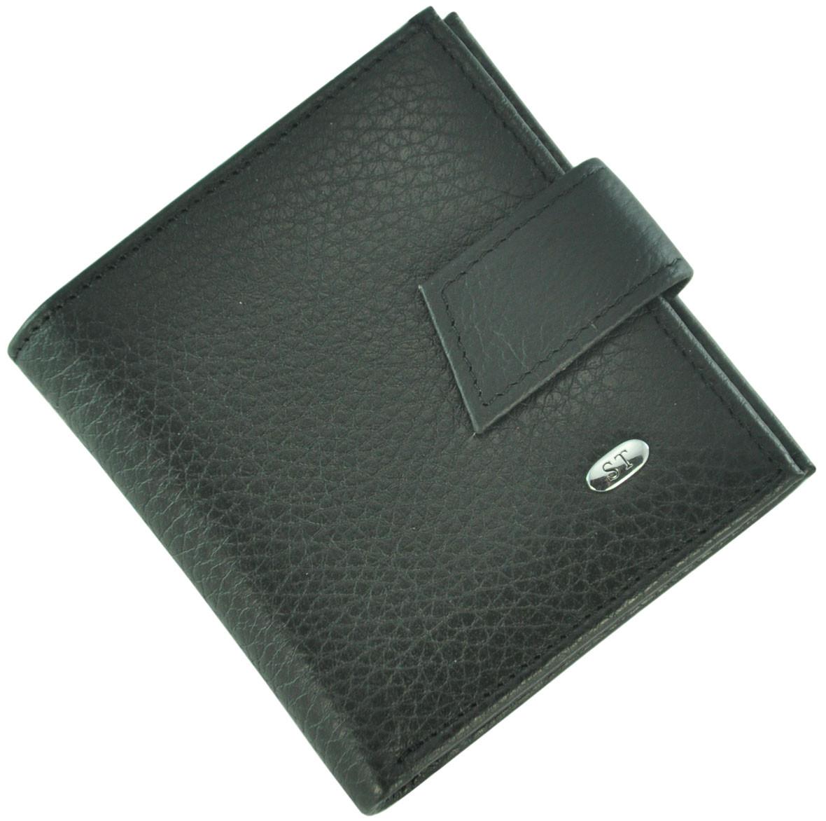 Кожаный женский кошелек ST430 Black