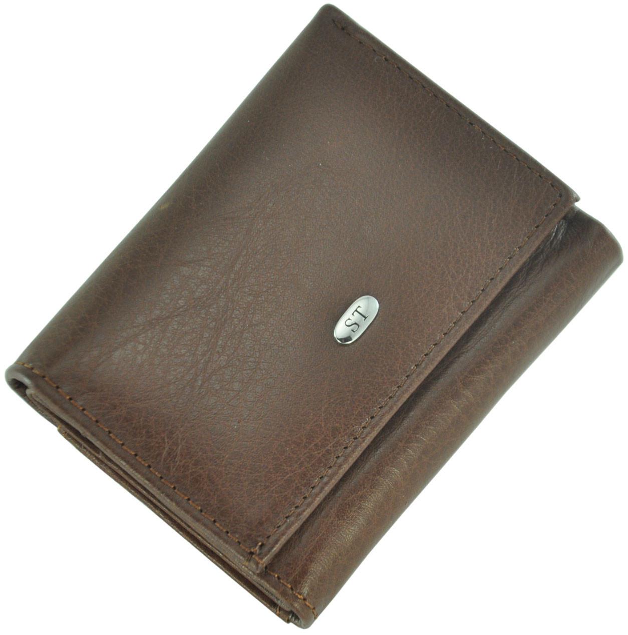 Кожаный женский кошелек ST440 Brown