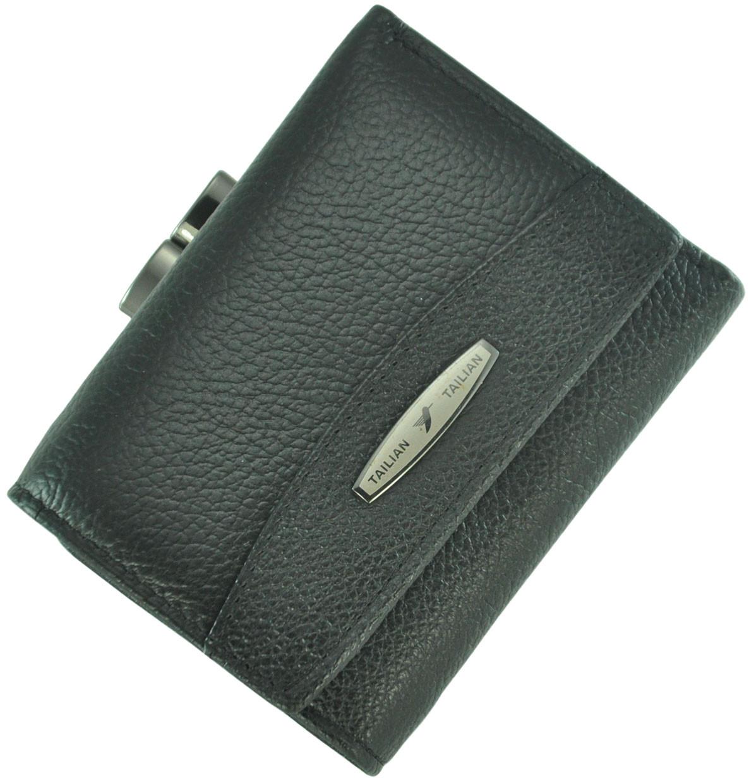 Кожаный женский кошелек Tailian T707-3H09-B Black