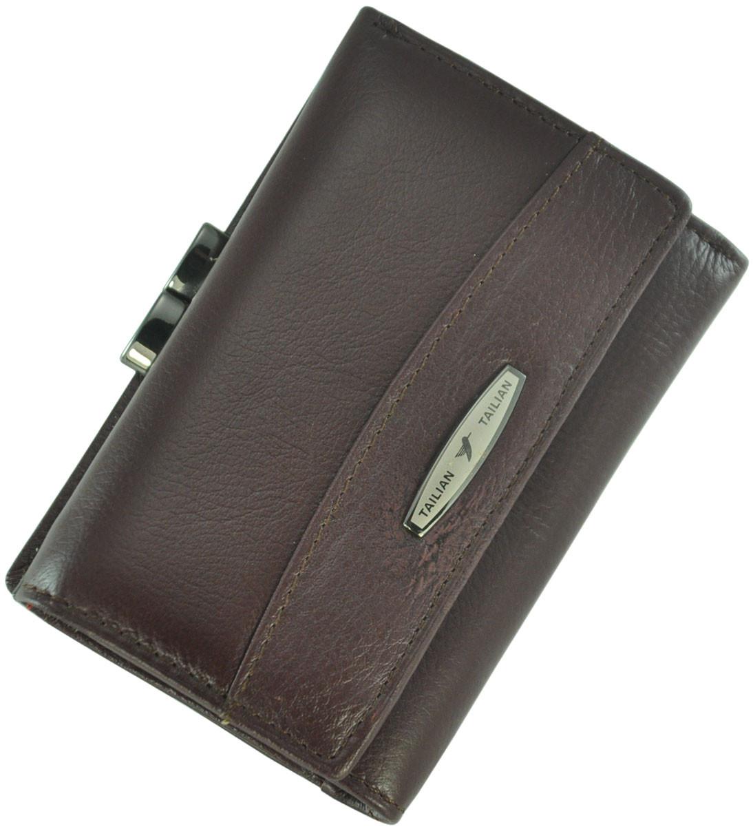 Кожаный женский кошелек Tailian T726-3H09-B Crimson