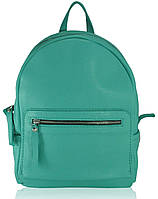 Кожаный женский рюкзак Meri бирюзовый