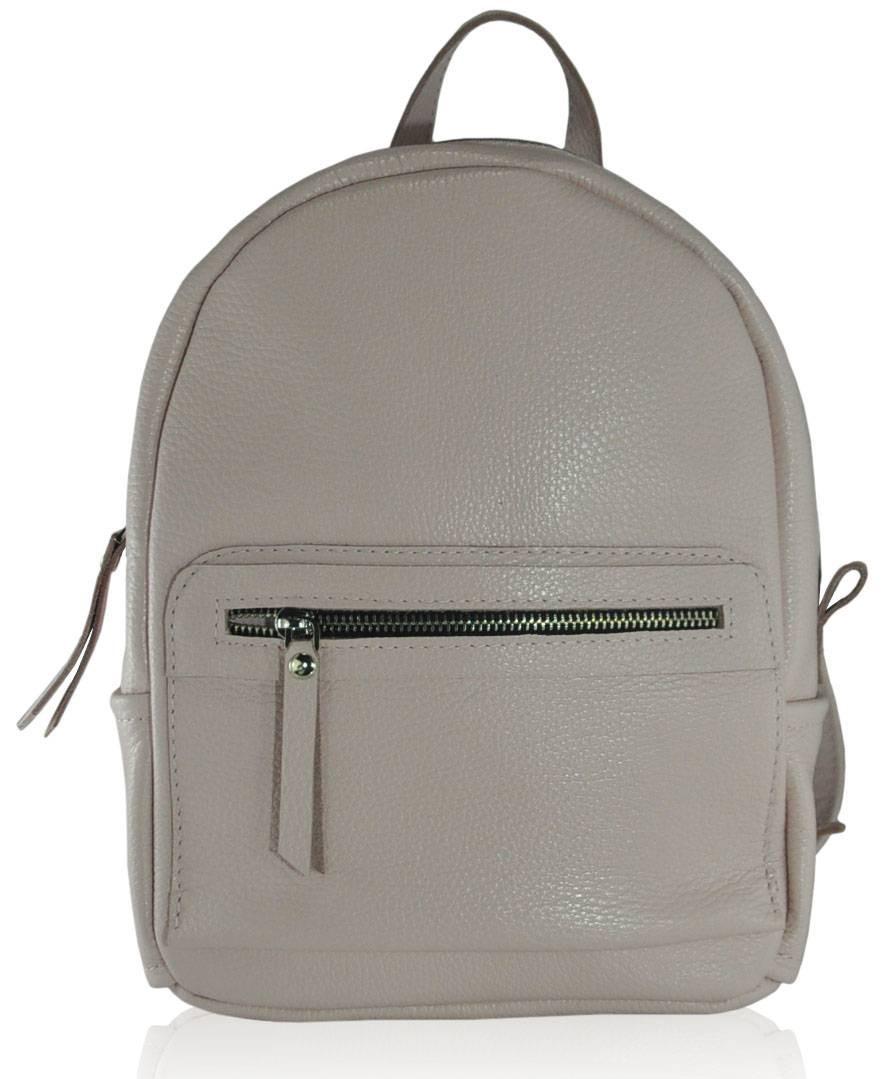 Кожаный женский рюкзак Meri розовый