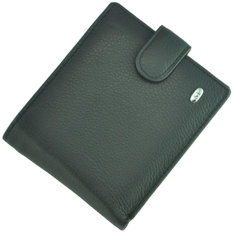 Кожаный мужской кошелек M4 Black