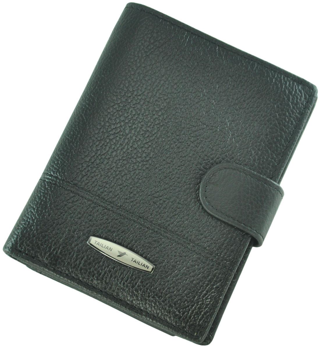 Кожаный мужской кошелек Tailian T265D-12H09-B Black