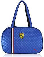 Спортивная стеганая сумка Puma Oval синяя реплика