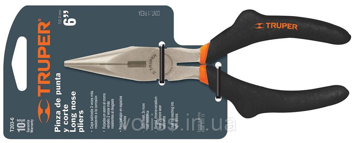 Длинногубцы Truper 150мм, T203-6