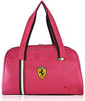 Спортивная стеганая сумка Puma Valise малиновая реплика
