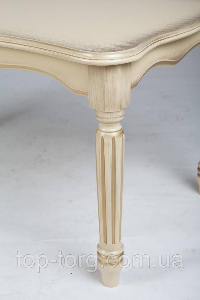 Журнальний стіл Венеціанський 100х60см слонова кістка з патиною