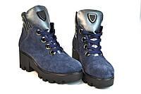 Ботинки женские замшевые  на шнурках