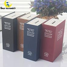Книга-сейф- копилка,11,5х8х4,5см см словарь малая (черный, синий)