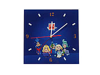Часы стеклянные с логотипом, фото 1