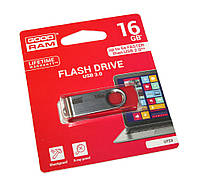 Флешка USB 3.0 16Gb Goodram Twister Red / 19/8Mbps / UTS3-0160R0R11