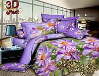 Комплект постельного белья 3D поликоттон ТМ Sveline Tekstil (Украина) двуспальный PC720-2