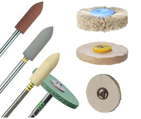 Поліри, полірувальні щітки та кола