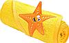 Полотенце Sensillo с 3D вышивкой 76х76 - yellow