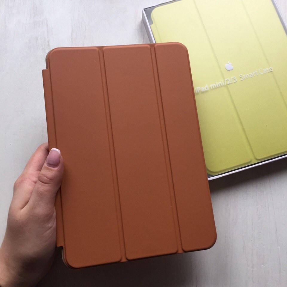 Чехол для iPad mini 1/2/3 кожаный коричневый Smart Case