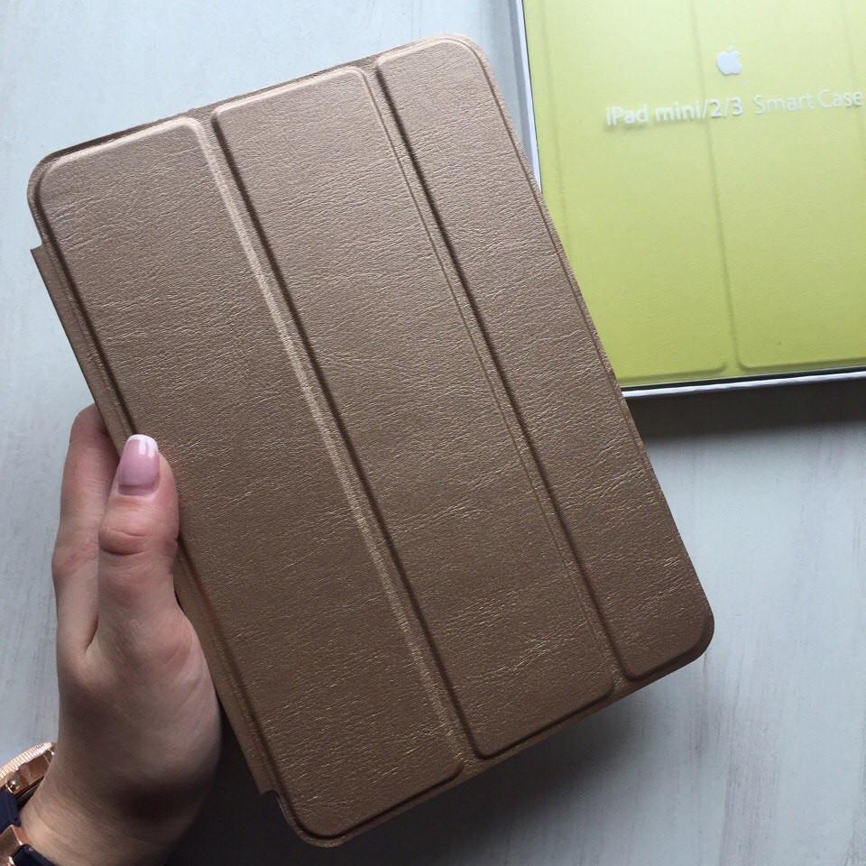 Чехол для iPad mini 2/3 кожаный золотой Smart Case