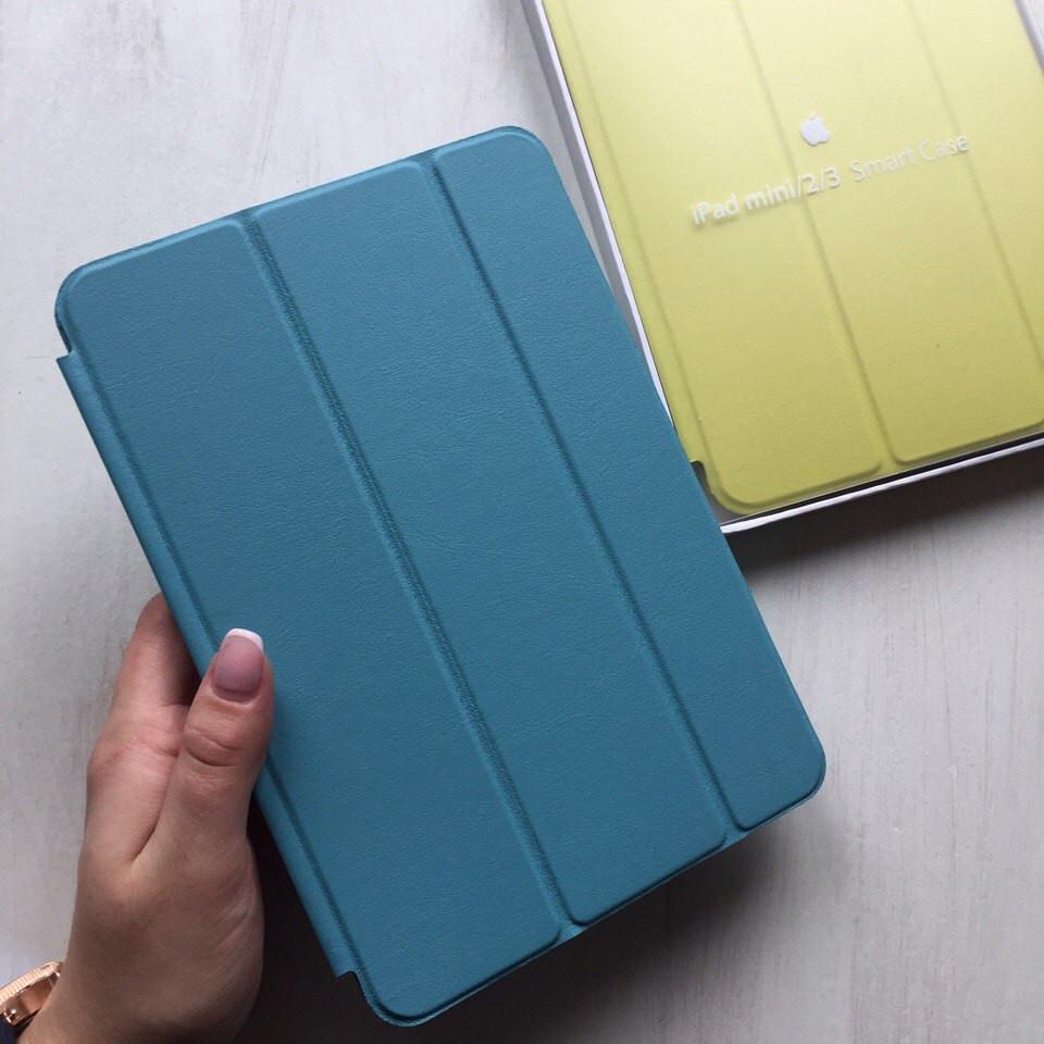 Чехол для iPad mini 2/3 кожаный голубой Smart Case