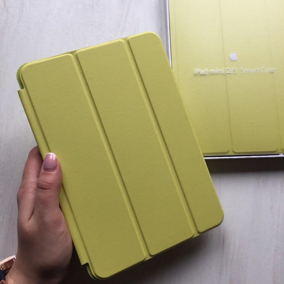 Чехол для iPad mini 2/3 кожаный салатовый Smart Case