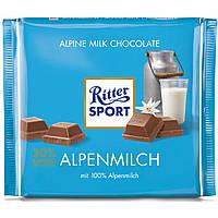 Шоколад Ritter Sport 100гр. (Германия) Alpenmilch (молочный с альпийским молоком)