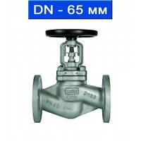 Вентиль регулировочный фланцевый, Ду 65/ 4,0 МПа/ до 350°С/ стальной корпус