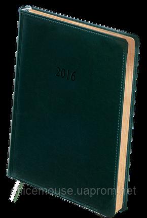 Щоденник шкіряний ,датований 2017 BOSS, А5, 336стр.