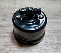 Выключатель накладной поворотный BIRONI пластиковый черный