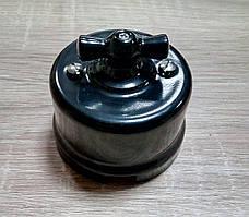 Выключатель накладной поворотный BIRONI керамический черный