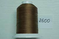 Нить №60 (1000 м.) «Титан» колір 2600 світлокоричневий