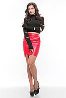 Молодежный женский черно-красный костюм  SO-13155-RED  ТМ Alpama 44 размер