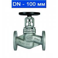 Вентиль регулировочный фланцевый, Ду 100/ 4,0 МПа/ до 350°С/ стальной корпус