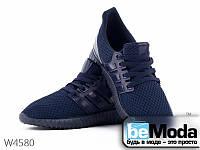 Комфортные мужские кроссовки Violeta Navy из оригинального текстиля синие