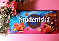 Шоколад. Studentska Рecet молочный с арахисом, желе и малиной