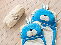 Слипик детский Sleep Baby 170x70 Голубой заяц. Бесплатная доставка!