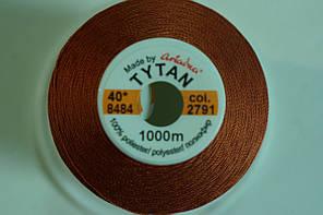 Нить №60 (1000 м.) «Титан» колір 2791 цегляний, фото 2