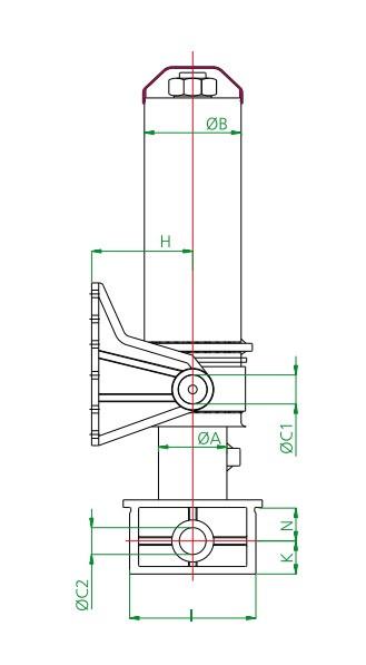 Гидроцилиндр 4-х штоковый,с внешним кожухом  (длина 1 штока 1938 мм)тип H - HYDROMARKET - Гидравлика на Тягачи и Самосвалы, Спецтехника и Робототехника в Киеве
