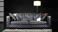 Дизайнерский диван Версаль, Диван, 3 местный, нераскладной, кожзам украшен пуговицами и строчками