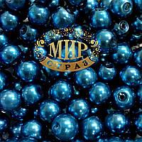 Жемчуг стекло  цвет Blue Zircon 6мм*1шт