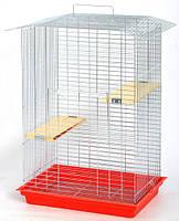 Клетка для грызунов ЛОРИ Шиншилла Люкс цинк (565*400*850)