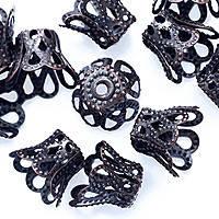 Конус Шапочки для Бусин, Металл, Цвет: Серебро, Размер: 8х6мм, Отверстие 1.5мм (200 шт) 24_2_55a2