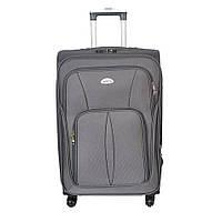 Дорожний чемодан большого размера на колесах Sanjerly - серый