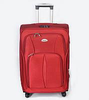 Дорожний чемодан большого размера на колесах Sanjerly - красный