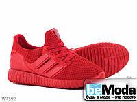 Легкие женские кроссовки Violeta Red из текстиля оригинального дизайна красные
