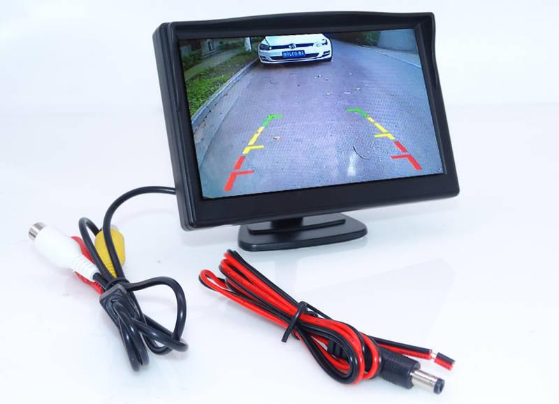 Монитор для камеры заднего вида 5'' 800*480, 2 источника