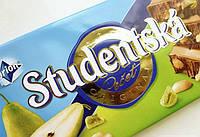 Шоколад. Studentska Рecet молочный с арахисом, желе и грушей, 180г
