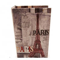Книга-сейф кожаная Париж 17см