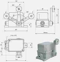 Концевой выключатель КУ-701, КУ-704, КУ-706, ПП 743, ПП 744, ПП 746, ПН 741