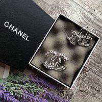 Сережки сережки-гвоздики CHANEL шанель серьги